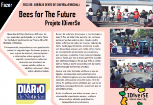 (IDiverSE): Bees for the Future activity in the local news in Madeira