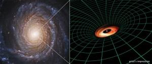 (Portal): Hubble descobre um misterioso disco em torno de um buraco negro