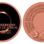 (PLOAD): Medalha centenário do eclipse de 1919