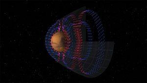 (Portal): MAVEN mapeia as correntes elétricas em torno de Marte que são fundamentais para a perda de atmosfera
