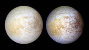 (Portal): Hubble descobre sinais de vapor de água persistente num hemisfério de Europa